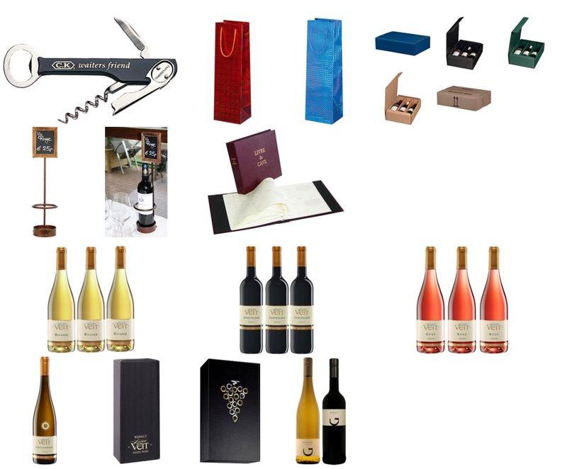 Wijn en wijnfles benodigdheden