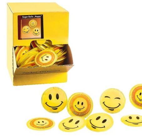 Suikerzakjes rond HAPPY SMILEY 400 zakjes à 3.6gr